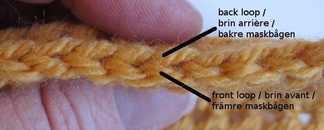 front and back loop crochet
