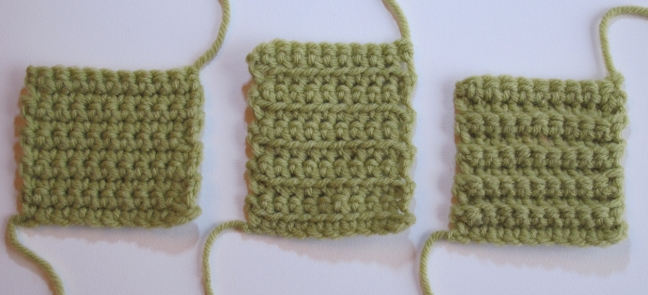 single crochet swatches