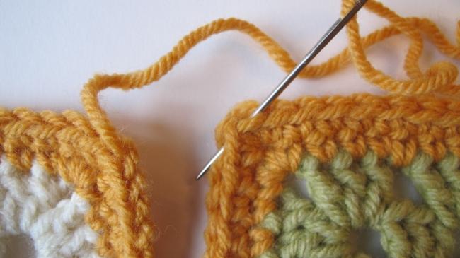seam crochet motif 2