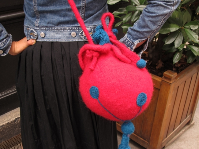 mandarine knitted bag