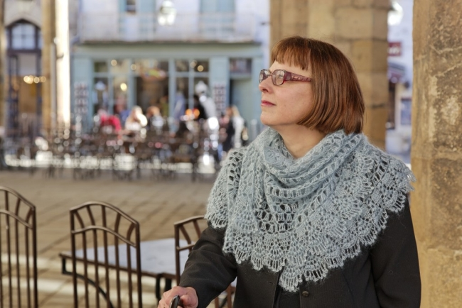 over the clouds crochet shawl