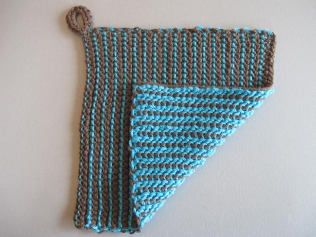 potholder reversible tunisian crochet