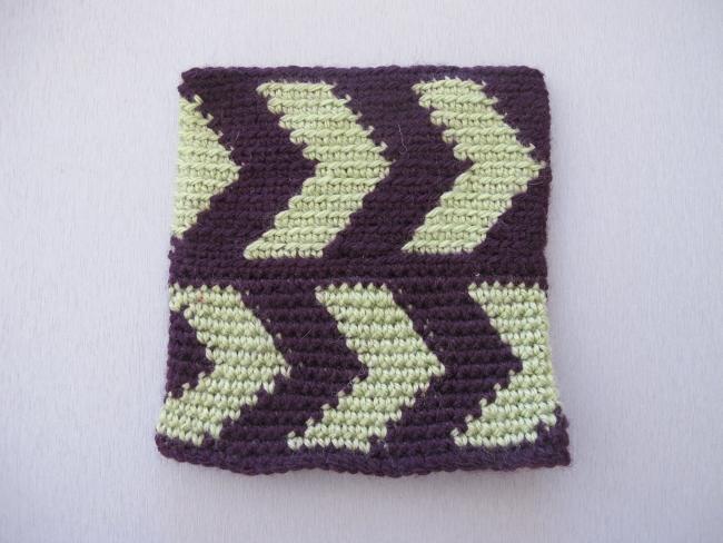 tapestry crochet swatch 1