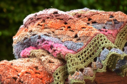 foulard de soie multico