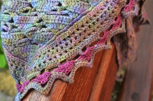 foulard de soie touche de rose
