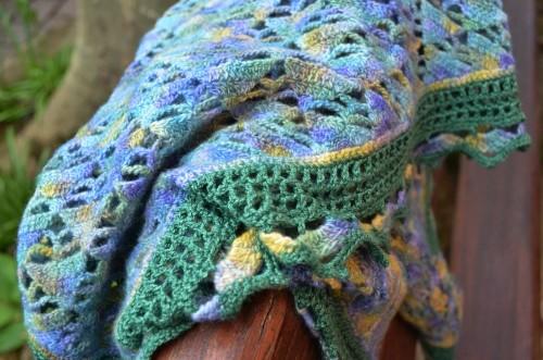 foulard de soie vert