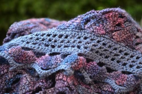 foulard de soie violet