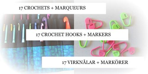 9 dec crochets et marqueurs