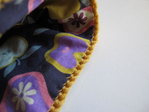 sac jaune couture doublure