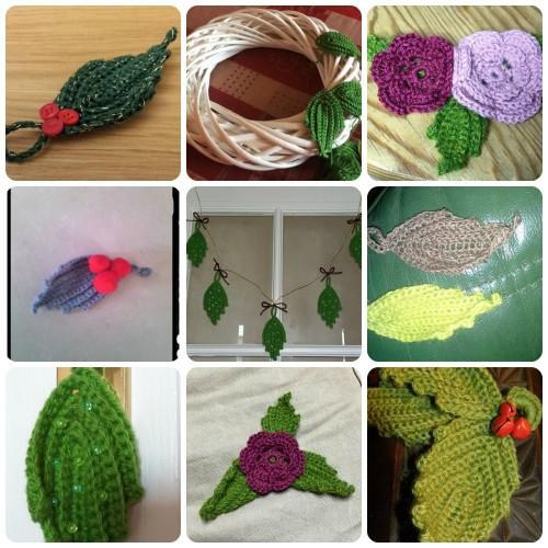 9 feuilles vertes