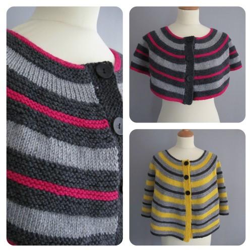 Rytmik: un chauffe-épaule au tricot avec plein de couleurs. Ludique et élégant ! Points faciles / Rytmik: a knitted shoulder warmer with plenty of colours. Fun and elegant! Easy stitch patterns.