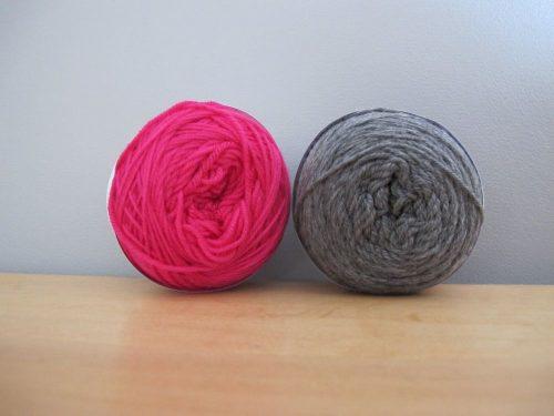 Mérinos fin d'Annette Petavy Design : rose indien et gris souris.