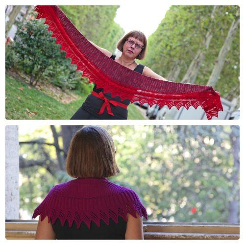"""Les """"baktus"""" au tricot d'Hélène Marcy/EclatDuSoleil - modèles disponibles chez Annette Petavy Design."""