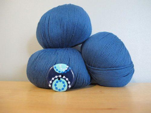 Coton bio bleu orage - Annette Petavy Design