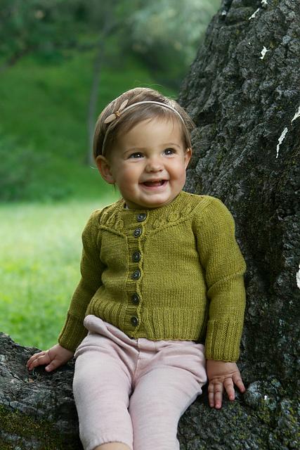 Brindilles mini, veste du livre Baby Botanicals d'Alana Dakos, disponible chez Annette Petavy Design